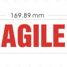 "Parcel Labels ""FRAGILE"", size 108 x 79mm"